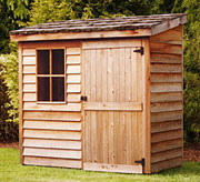 Shed I will build with my feet