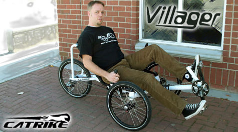 Hey, that's not me! Just too lazy to find photos of my own trike.
